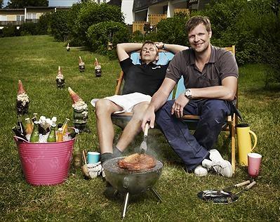 Johnnie Krigström och Mattias Särnholm. Foto:Magnus Selander/Kanal 5.