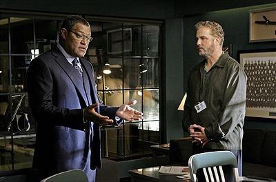 CSI Laurence Fishburne som Raymond Langston och William Petersen som Gil Grissom. Foto CBS