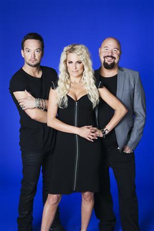 Idol 2009. Juryn. Andreas Carlsson, Laila Bagge och Anders Bagge. Foto: Karolina Henke/Agent Skarp/TV4